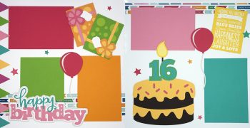 Happy Birthday - Girl 16 Page Kit