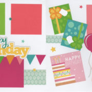 Happy Birthday - Girl 4 Page Kit
