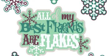 All Of My Best Friends Are Flakes Cutouts