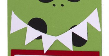 Green Monster Gift Tag