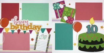 Happy Birthday 10 - Girl PRE-MADE Option