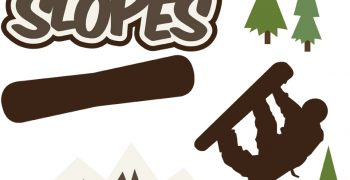 Hitting The Slopes - Snowboarder Cutouts