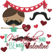 I Mustache You To Be My Valentine Cutouts