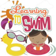 Learning To Swim - Girl Cutouts