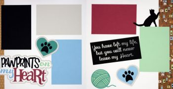 Pawprints On My Heart - Cat PRE-MADE Option