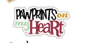 Pawprints On My Heart - Dog Cutouts