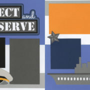 Protect And Serve - Navy Page Kit