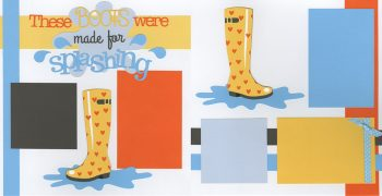 PRE-MADE These Boots Were Made For Splashing - Hearts