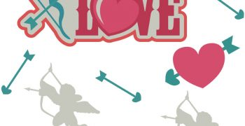 Struck By Love Cutouts