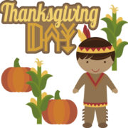 Thanksgiving Day - Native American Boy Cutouts