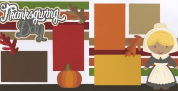 Thanksgiving Day - Pilgrim Girl Page Kit