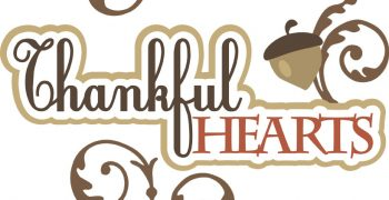 Thankful Hearts Cutouts