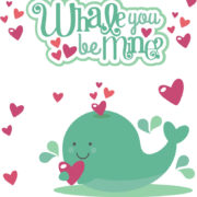 Whale You Be Mine Cutouts