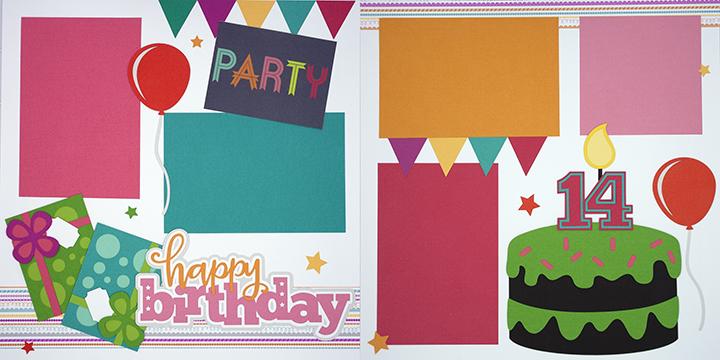 Happy Birthday - Girl 14 Page Kit