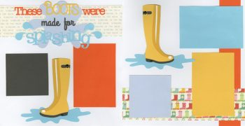 These Boots Are Made For Splashing - Plain Page Kit