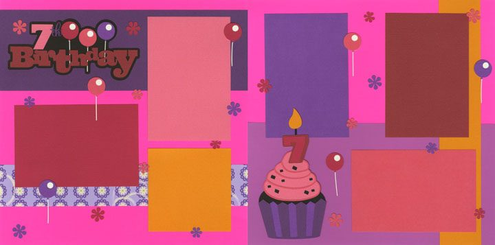 7th Birthday - Girl Page Kit