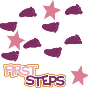 First Steps - Girl Cutouts