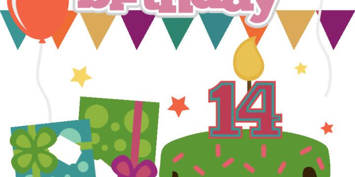 Happy Birthday - Girl 14 Cutouts