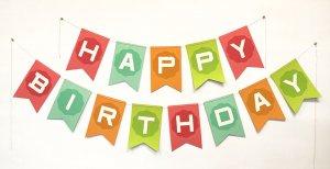 Happy Birthday - Girl Banner